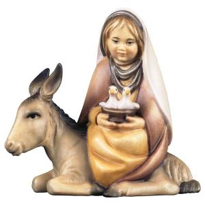 CO Girl with doves on donkey