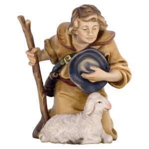 Kneeling Shepherd with Stick and Sheep